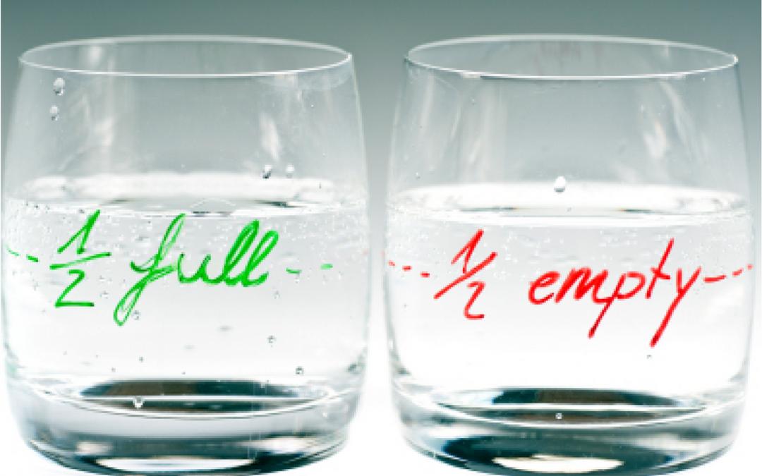 Het glas is niet altijd halfvol.